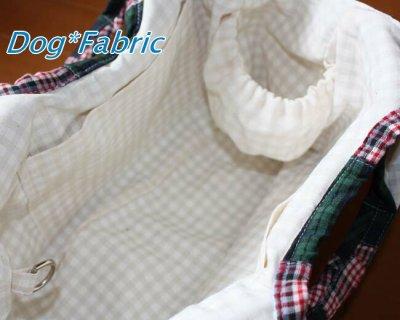 画像1: ふわころ*お散歩Bag (mocha-check)