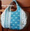 画像1: ふわころ*お散歩Bag (provans blue&white) (1)