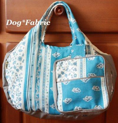 画像2: ふわころ*お散歩Bag (provans blue&white)