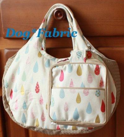 画像2: ふわころ*お散歩Bag (mocha&rain drops)