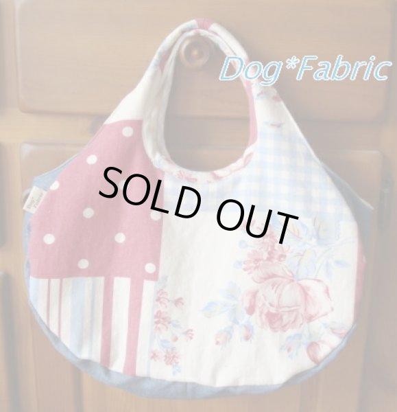 画像1: ふわころ*お散歩Bag (red-dot&flower) (1)